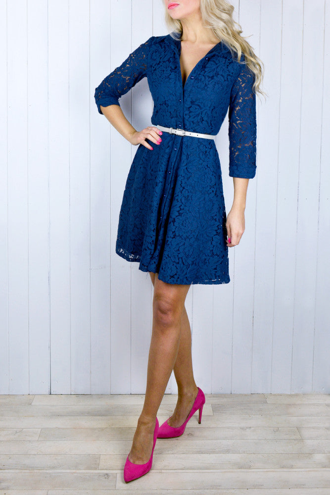 Talulah Lace Shirt Dress