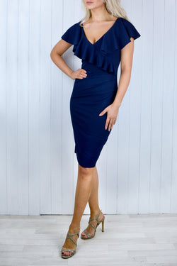 Angela Frill Neckline Dress