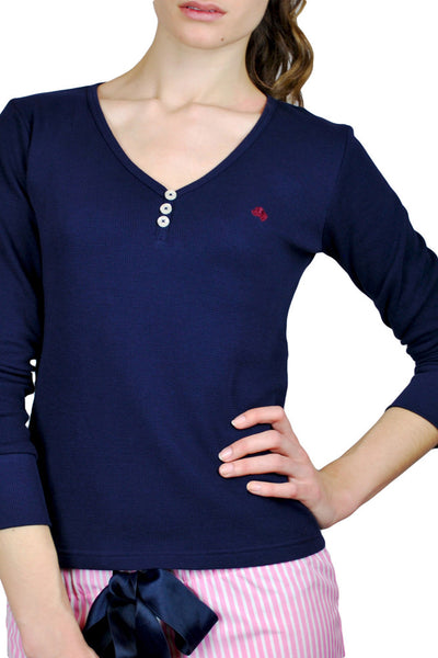 Leonnie Navy Henley Jumper
