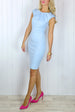 Daniella Powder Blue Bodycon Dress
