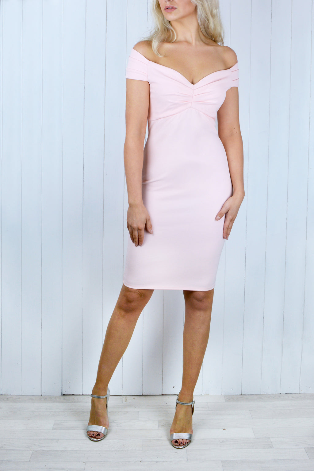 Charlotte Sweetheart Neckline Blush Pink Dress