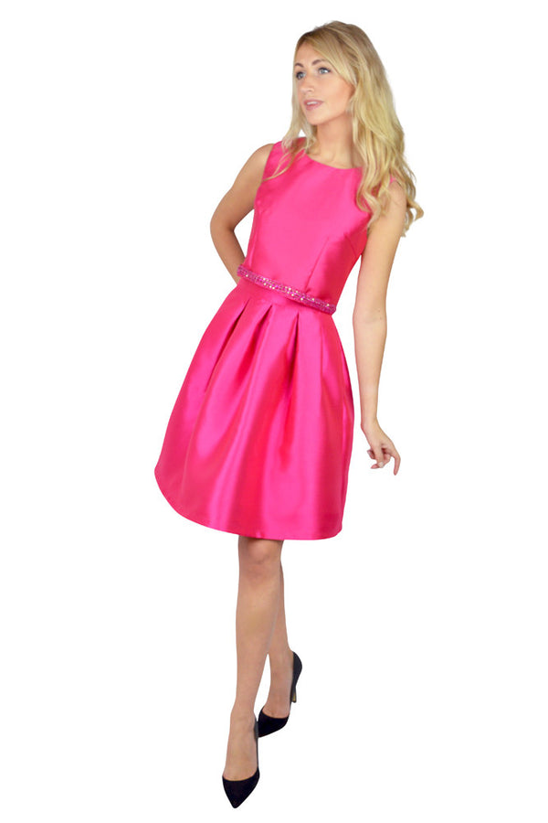 Hot Pink Mini Prom Skirt