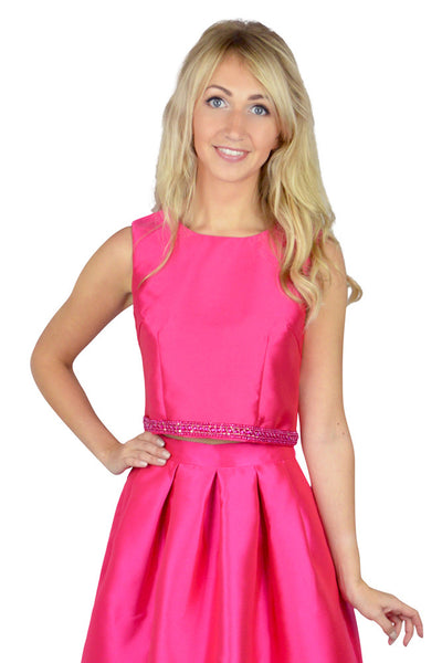 Julie Fuschia Crop Top