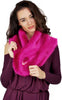 Hot Pink Faux Fur Stole