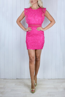 Sadia Fuchsia Crochet Lace Dress