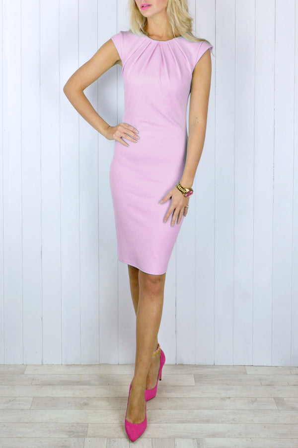 Daniella Blush Pink Bodycon Dress