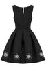 Embellished Black Prom Dress back