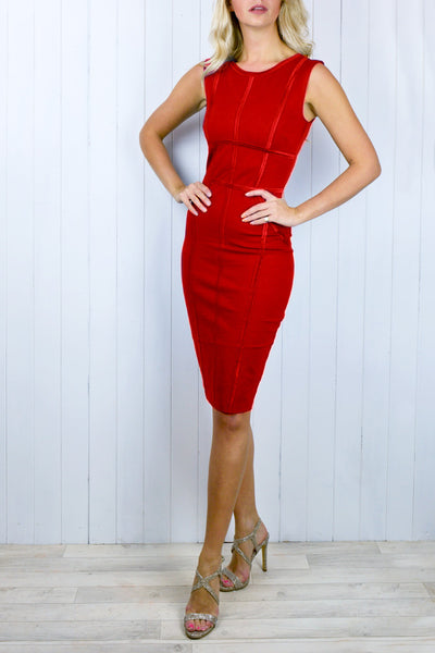 Hetty Red Body Con Dress