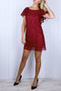 Jane Ruby Red Lace Shift Dress