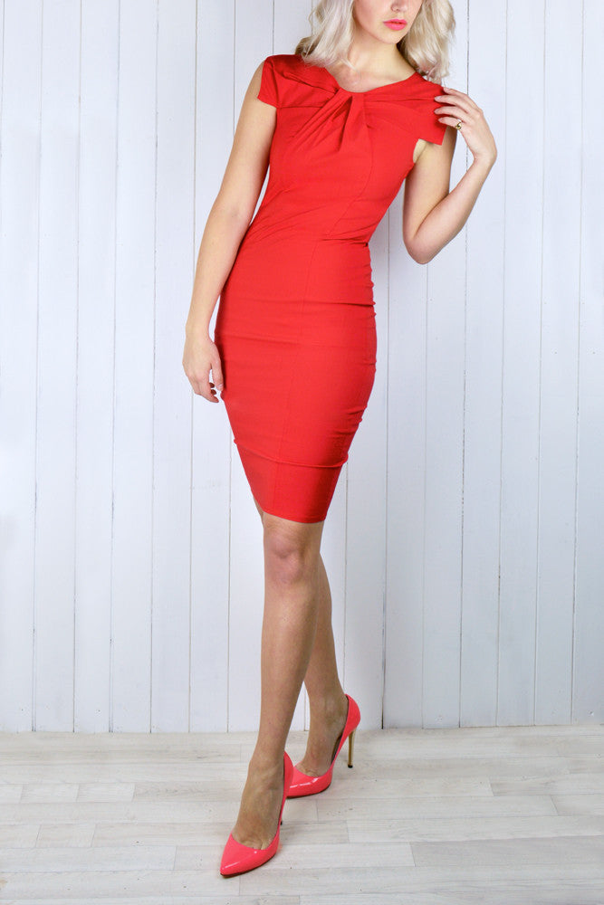 Helen Bow Neckline Dress