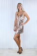 Bella Rose Gold Sequin Cami Dress