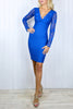 Electric Blue Lace Bandage Dress - Size 8