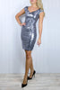Lana Silver Sequin Dress