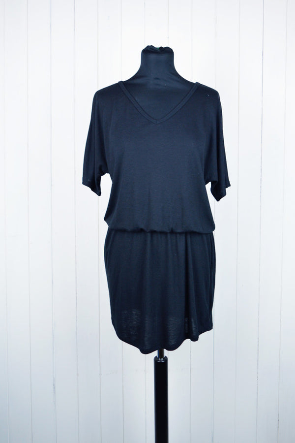 Black Jersey Casual Dress