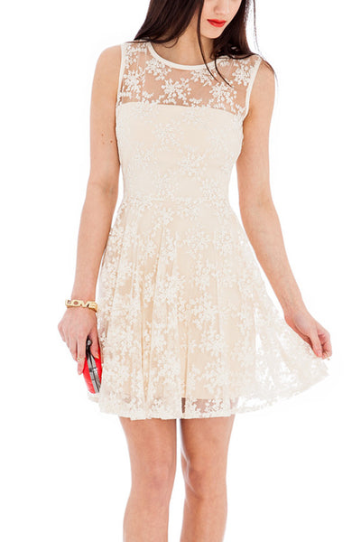 Sophia Cream Lace Dress Sample - Size 12