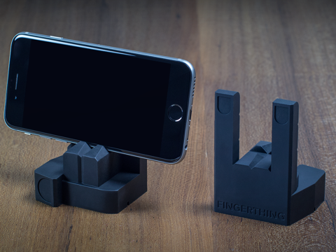 black rockfinger silicone smartphone stand holds iphone 6s