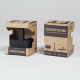 Brown paper packaging for smartphone stand Fingerthing