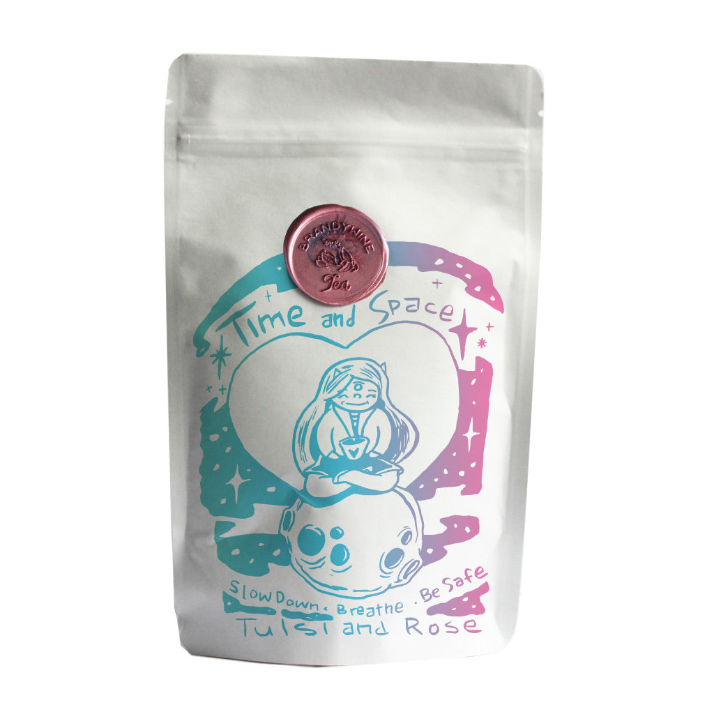 Time and Space - Rose Organic Tulsi Holy Basil - 40g