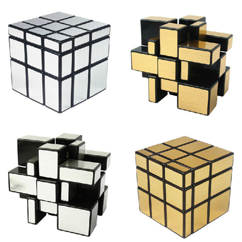 ShengShou Mirror Magic Cube in Gold and Silver