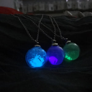 Dandelion Glass Ball Necklace