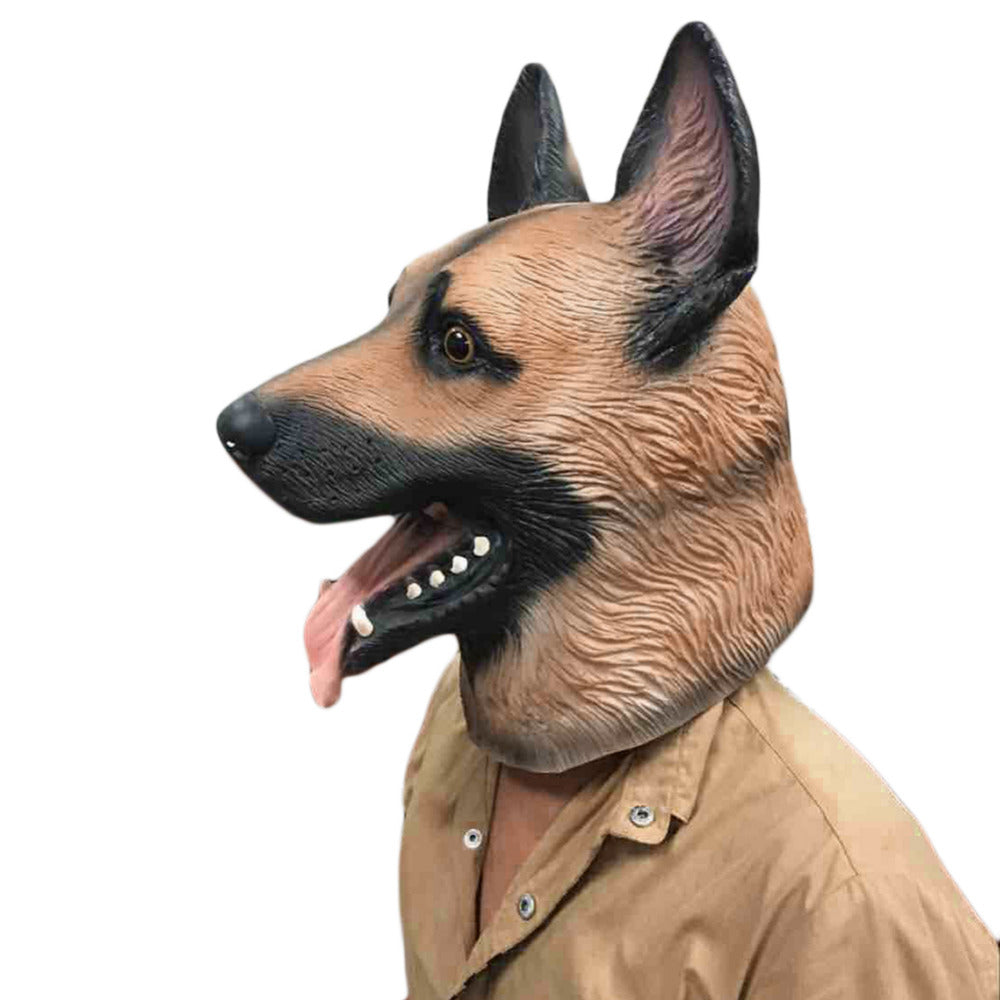 Dog Head Latex Mask