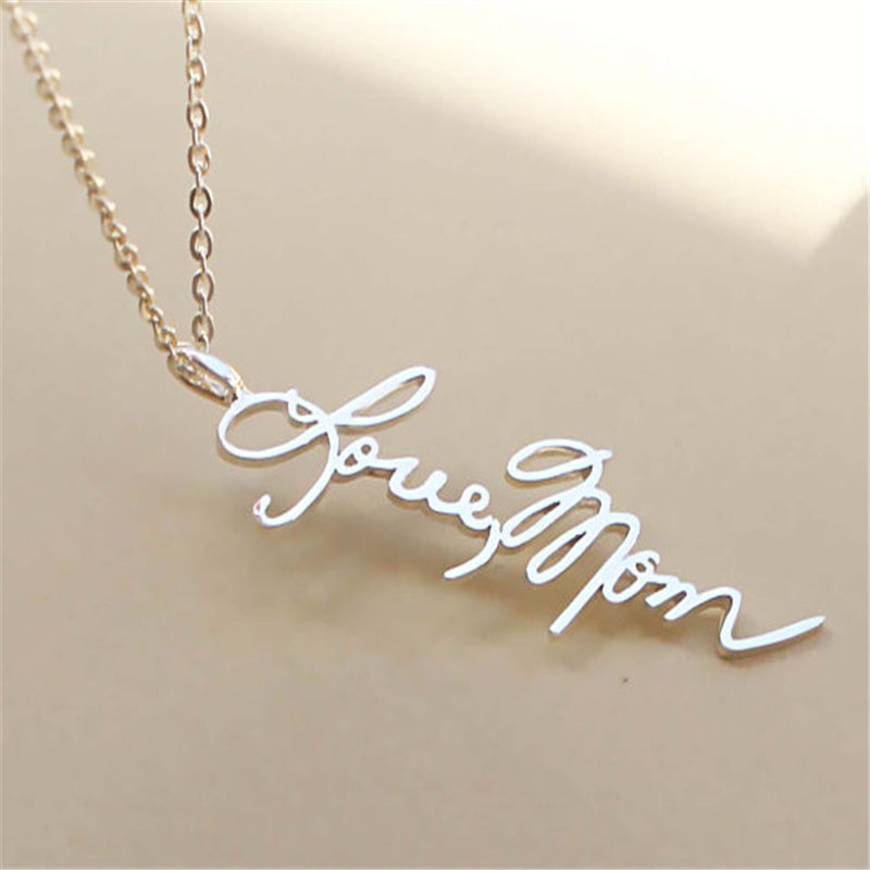 accessories on memorial from signature necklaces pendant item personalized heart in handwriting necklace jewelry