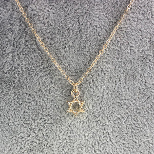 Beautiful Jewish Star Necklace in Gold
