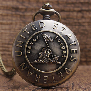 UNITED STATES VETERAN Quartz Pocket Watch