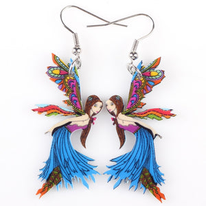 Cute Acrylic Angel Earrings