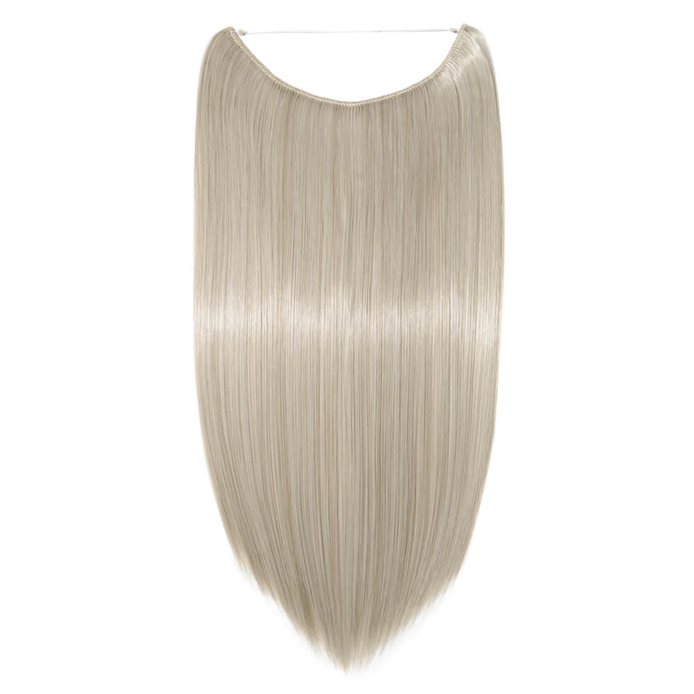 ash blonde silver gray mix hair extensions straight