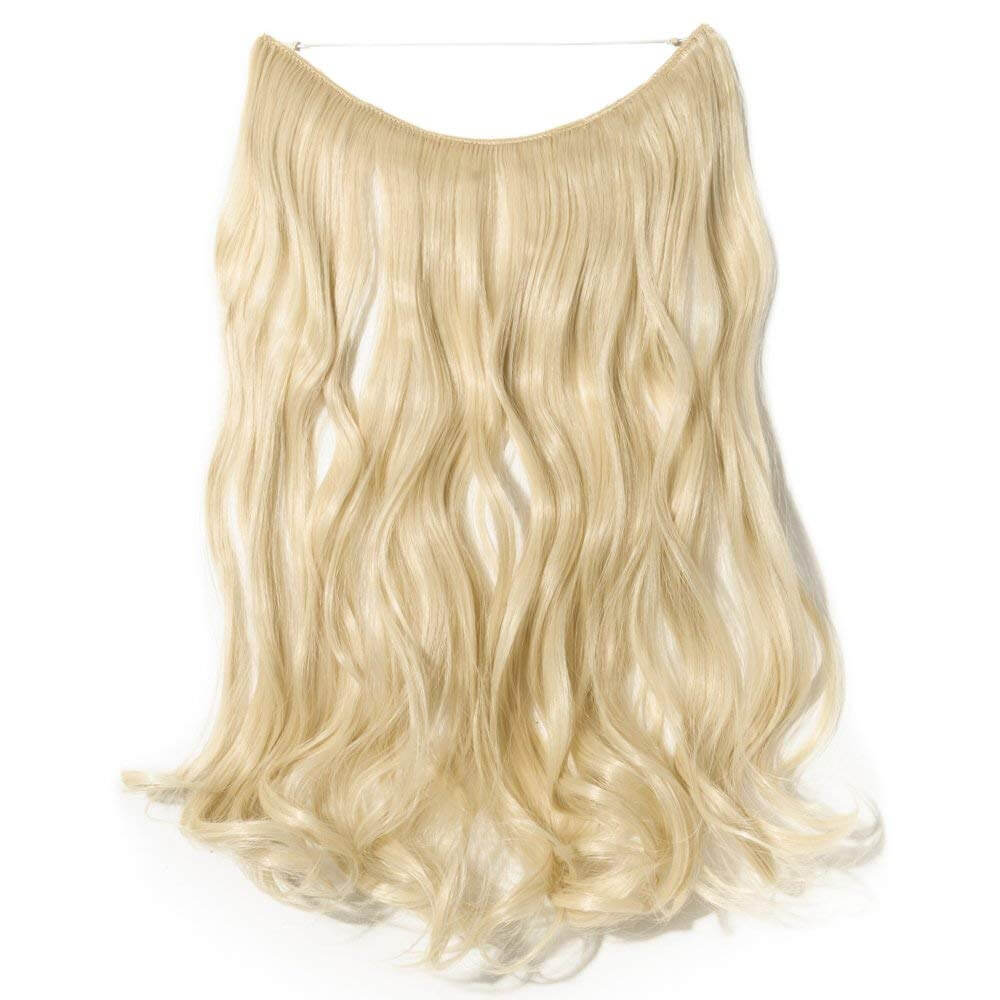 bleach blonde hair extensions curly