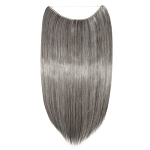 dark brown silver gray mix hair extensions straight