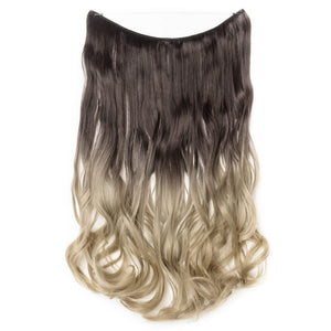 dark brown to ash blonde hair extensions curly