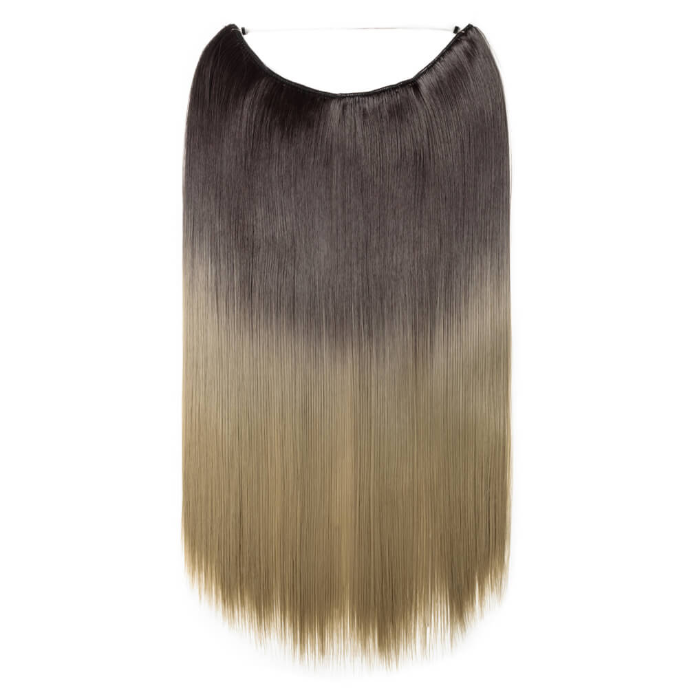 dark brown to ash blonde hair extensions straight