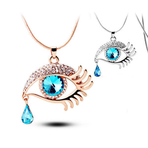 Eye-shape Necklace with Teardrop