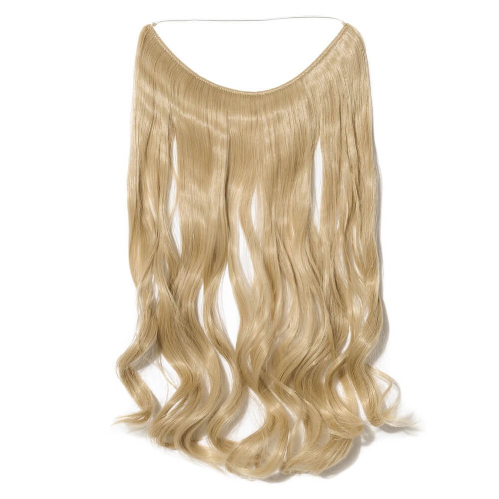 gold bleach blonde mix hair extensions curly
