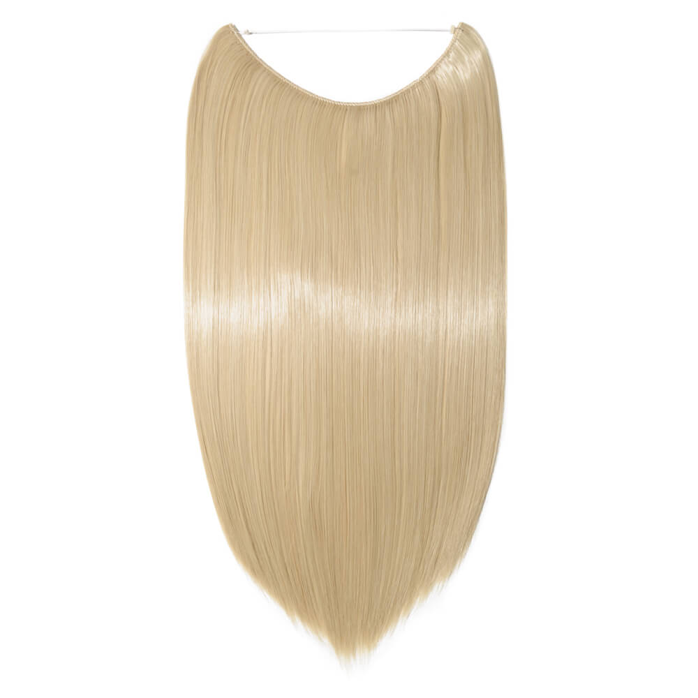 gold bleach blonde mix hair extensions straight