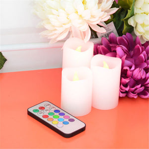 Set of 3: Flameless LED candles