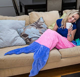 Cozy Mermaid Blanket for Kids and Adults