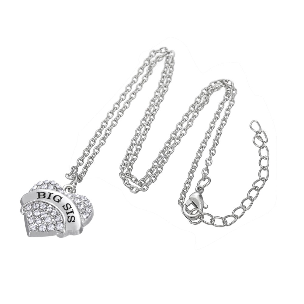 Family Crystal Heart Necklace