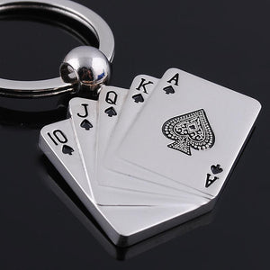Poker Card Deck Keyring