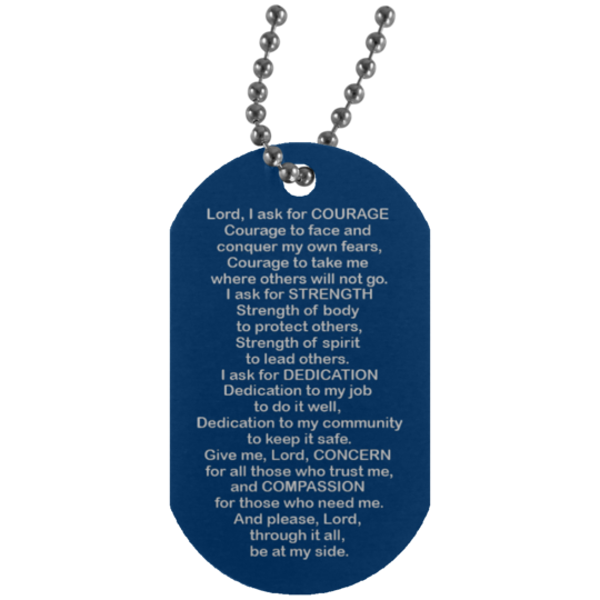 Police Officer's Prayer - Dog Tag Necklace