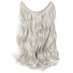 silver gray hair extensions curly