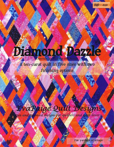 Diamond Dazzle  - five sizes table runner to queen