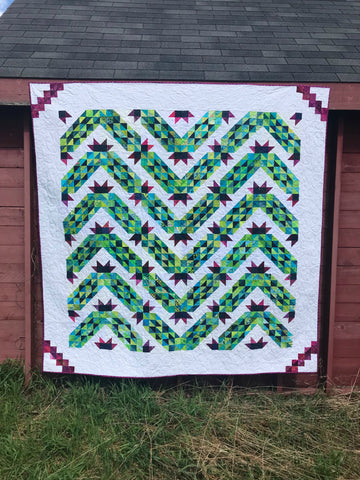 Thread Your Cactus Needle - An Accordion Sewn HSTs pattern
