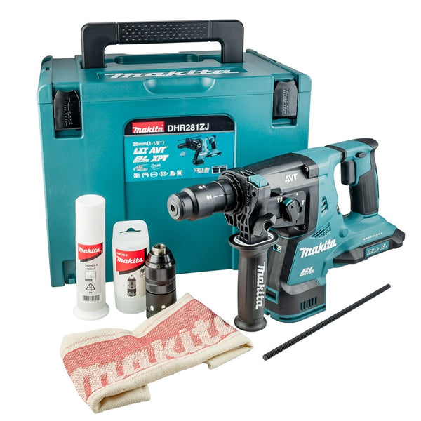 Makita DHR281ZJ 36v Twin 18v LXT QCC Brushless Rotary Hammer Drill Bare Unit