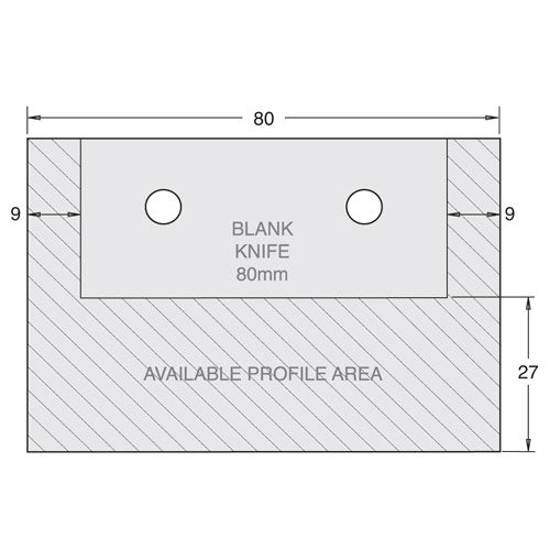 Limitor 78mm x 5.3mm plate blank(pr)