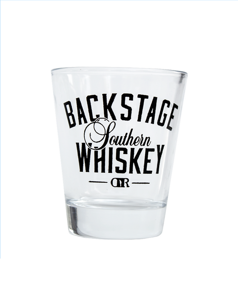 BACKSTAGE WHISKEY SHOT GLASS