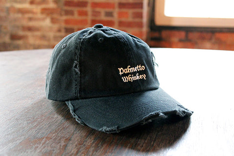 PALMETTO WHISKEY DISTRESSED HAT - BLACK/BROWN