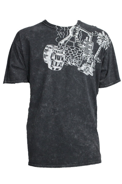 SHORT SLEEVE MINERAL WASH SHIRT